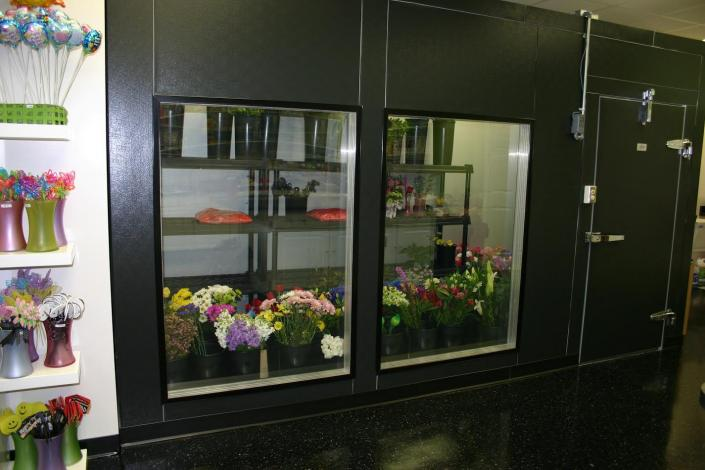 We offer a variety of standard sized coolers but we can customize any design to best fit your unique floral needs.